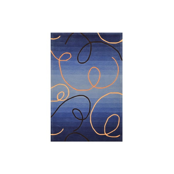 Ručne tkaný koberec Pluto, 200x300 cm, modrý