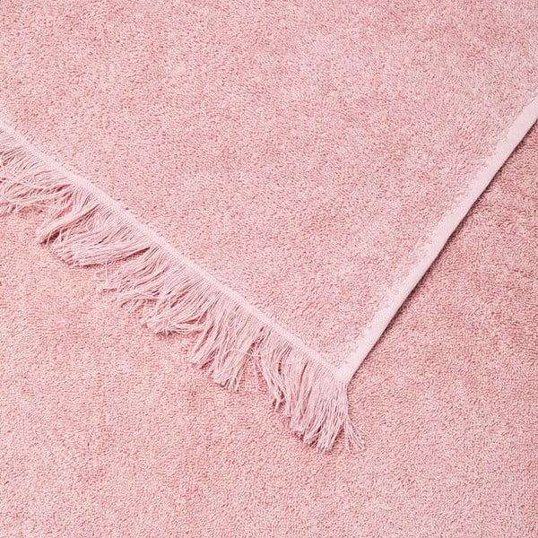 Sada 4 ružových bavlnených uterákov Casa Di Bassi Bath, 50x90cm