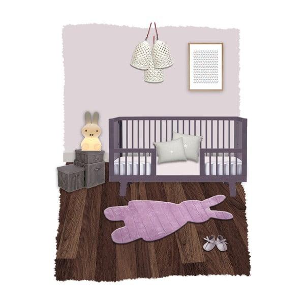 Detský koberec Bunns Pink, 85x140cm