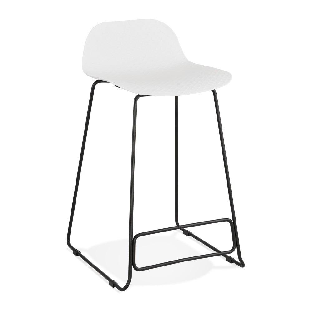 Biela barová stolička Kokoon Slade, výška 85 cm