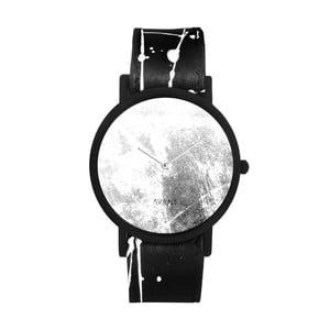Unisex hodinky s čierno-bielym remienkom South Lane Stockholm Avant Diffuse Invert
