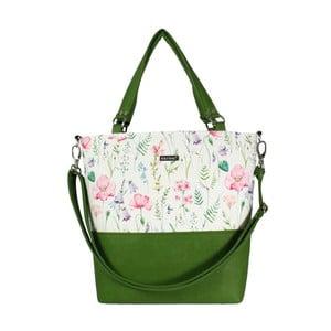 Zeleno-béžová kabelka Dara bags Lele No.606