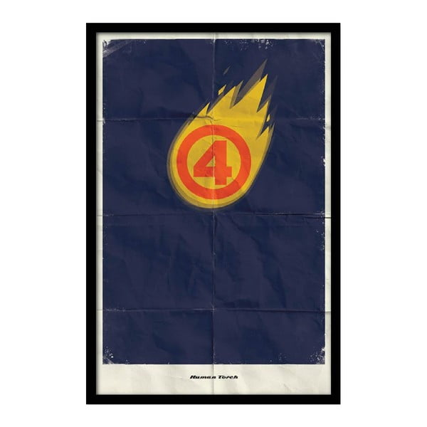 Plagát Human Torch, 35x30 cm