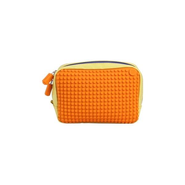 Pixelová príručná taštička, yellow/orange