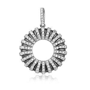 Strieborný prívesok s bielymi zirkónmi Swarovski Elements Crystals Circle Bobby