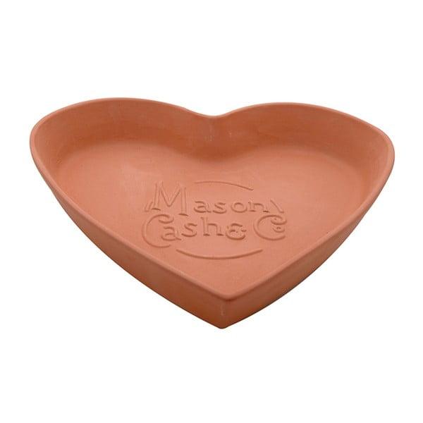 Terakotová misa Heart, 28 cm