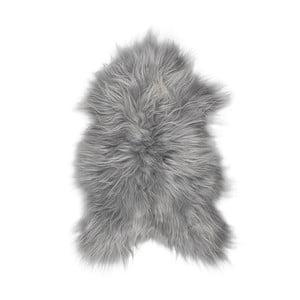 Sivá ovčia kožušina s dlhým vlasom Darja, 100 x 55 cm