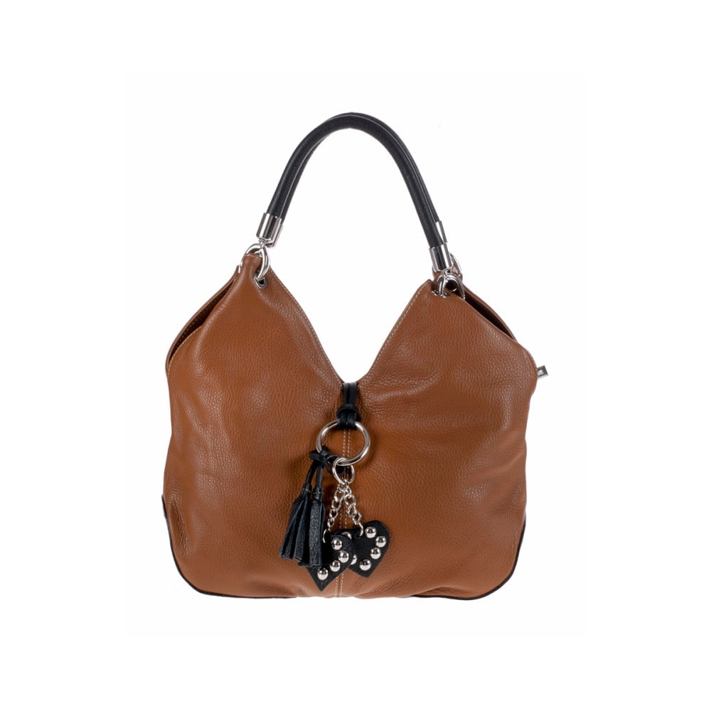 Hnedá kožená kabelka Pitti Bags Lecce  2a4b7da08ee