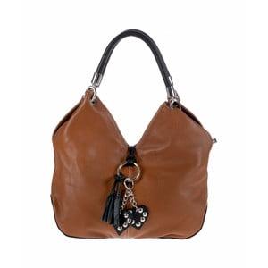 Hnedá kožená kabelka Pitti Bags Lecce