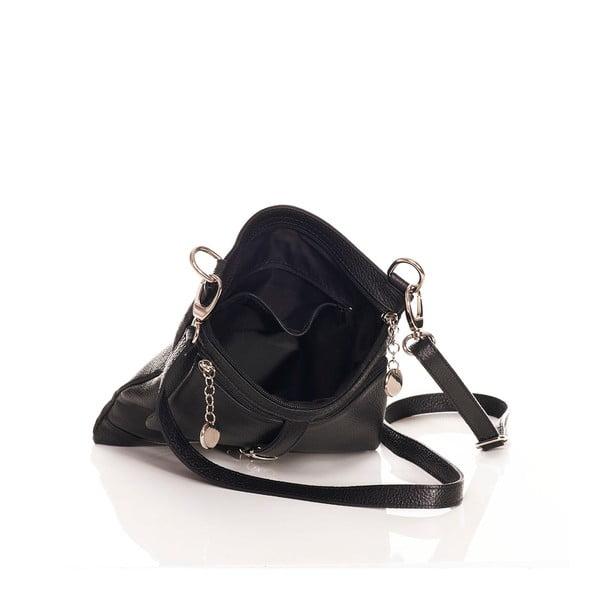 Kožřená kabelka Federica Bassi Cross Body, čierna