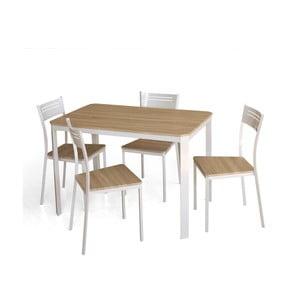 Jedálenský stôl a 4 stoličky Dress