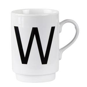 Porcelánový písmenkový hrnček W