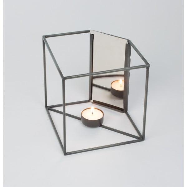 Stojan na sviečku so zrkadielkom Light