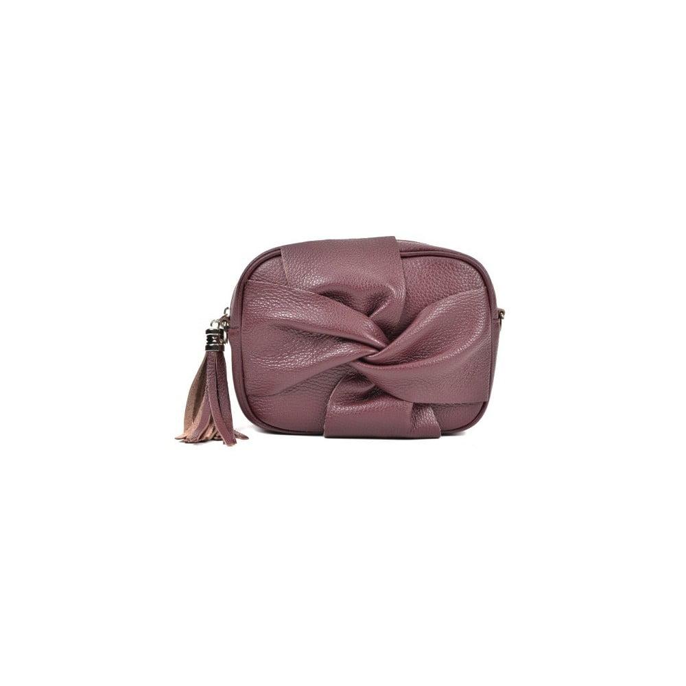 Vínovočervená kožená kabelka Roberta M Kara Vino  a5df218f8f5