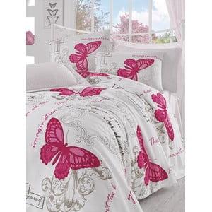 Prikrývka s plachtou Pink Butterfly, 160x235 cm