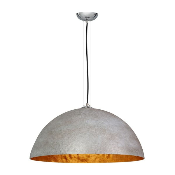 Sivo-zlaté stropné svietidlo ETH Mezzo Tondo, ⌀ 70 cm