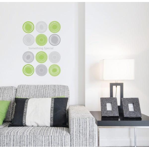 Samolepka Green Circles Wall