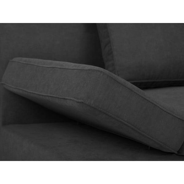 Tmavosivá dvojmiestna rozkladacia pohovka Windsor & Co Sofas Iota