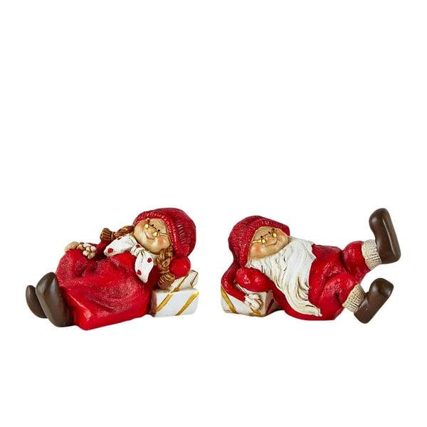 Sada 2 dekoratívnych vianočných figúrok KJCollection Pixie II