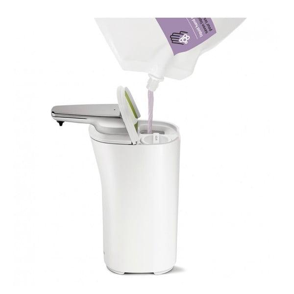 Biely bezdotykový dávkovač mydla simplehuman  Compact