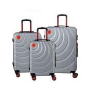 Sada 3 sivých cestovných kufrov Murano Manhattan