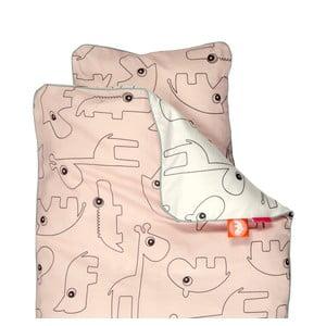Detské ružové obliečky Done by Deer Contour, 70 x 80 cm