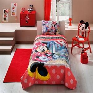 Detská prikrývka s obliečkou na vankúš Minnie Tea Time, 160 x 220 cm