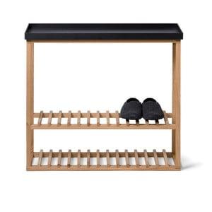 Skrinka na topánky/úložný stolík s čiernou doskou Wireworks Hello Storage