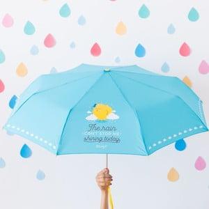 Modrý dáždnik Mr. Wonderful The rain can't stop me shining