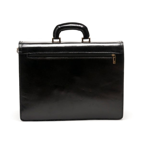 Čierna kožená kabelka  Isabella Rhea no. 361