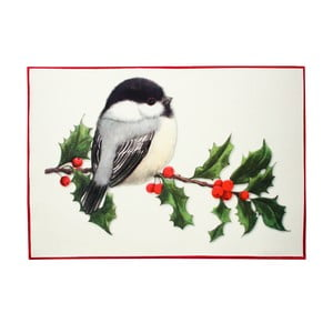 Vianočné prestieranie s vtáčikom Christmas