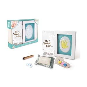 Rámik na odtlačok detskej ručičky s farbami Tnet My Sweet Baby, 21x17x2cm