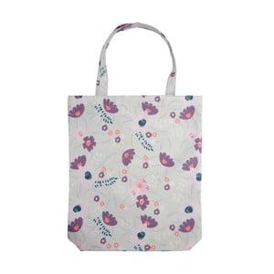 Svetlofialová nákupná taška Busy B Floral Shopper