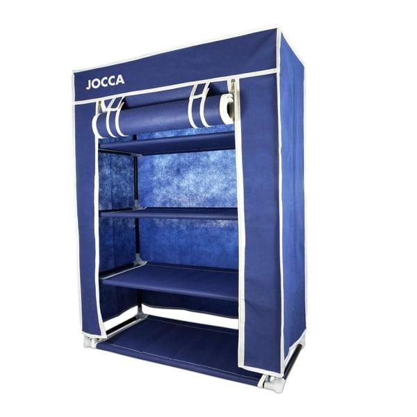 Modrý textilný úložný box na topánky Jocca, 80 x 60 cm