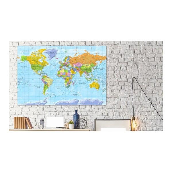 Nástenka s mapou sveta Artgeist Orbis Terrarum 120×80 cm