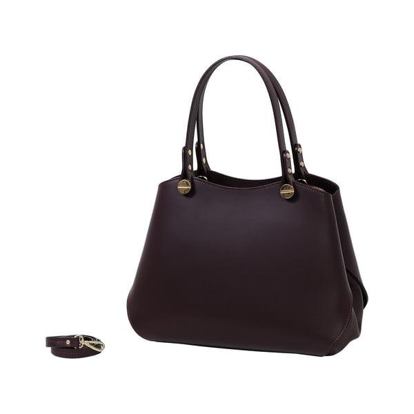 Bordó kabelka z pravej kože Andrea Cardone Sante