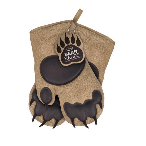Hnedé chňapky Fred & Friends Bear Hand