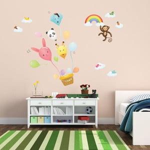 Samolepka Ambiance Ballons And Funny Monkey