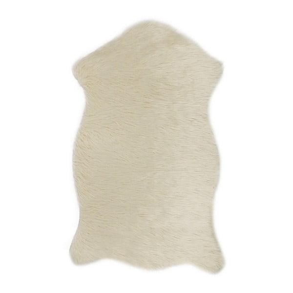Krémový koberec z umelej kožušiny Mirabelle, 150 x 95 cm