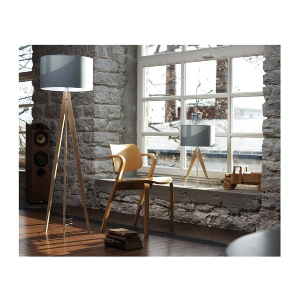 Stojacia lampa 4room Artist Black/Brown, 125x33 cm