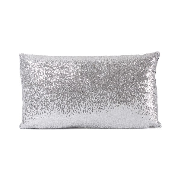 Flitrovaný vankúš Shiny Grey, 33x57 cm