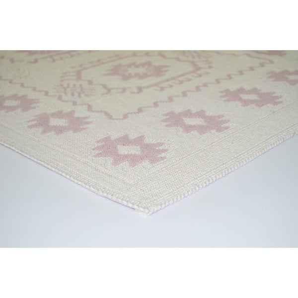 Pudrovoružový odolný koberec Vitaus Dahlia, 120x180cm