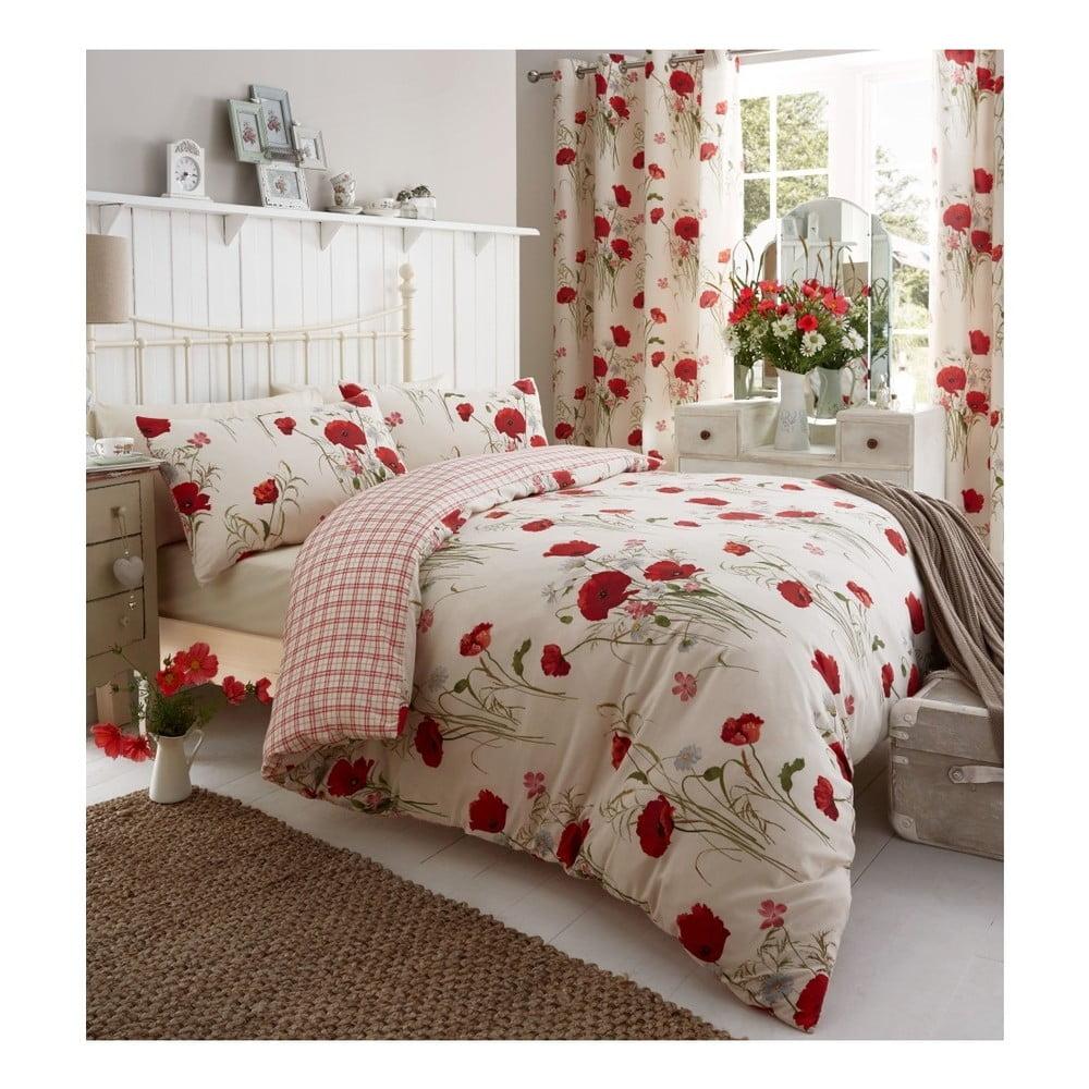 Obliečky Catherine Lansfield Wild Poppies, 200 × 200 cm