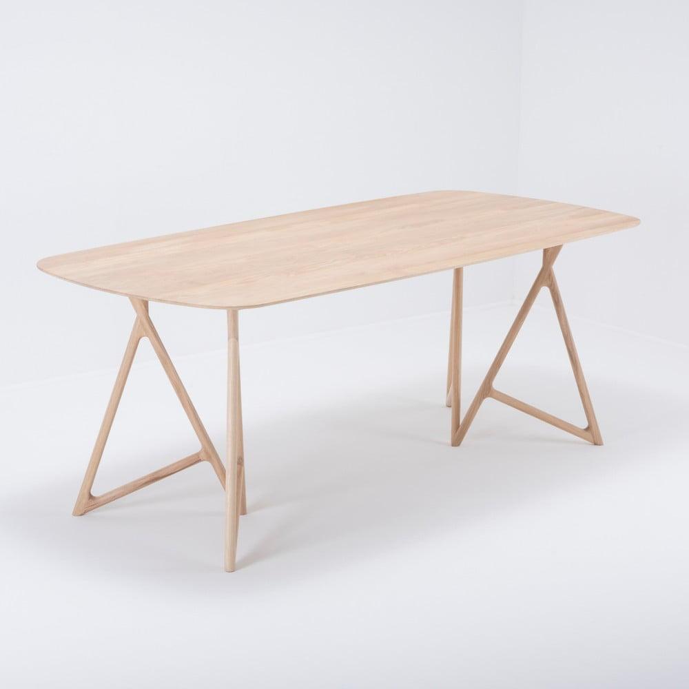 Jedálenský stôl z masívneho dubového dreva Gazzda Koza, 200 × 90 cm