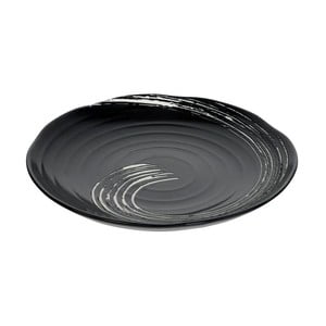 Čierny tanier Tokyo Design Studio Maru, ø 27 cm