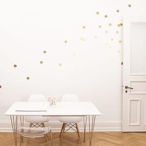 Samolepky na stenu Goldene Dots, 45 ks