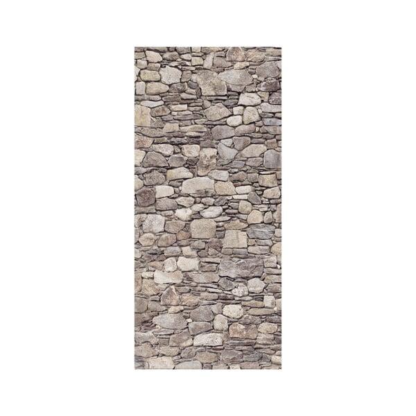 Samolepka na dvere Kamenná stena