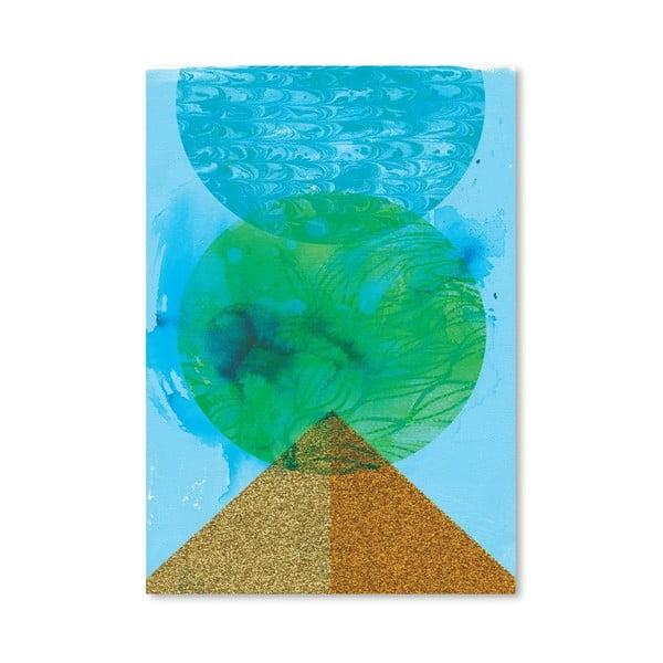 Plagát Golden Green, 30x42 cm