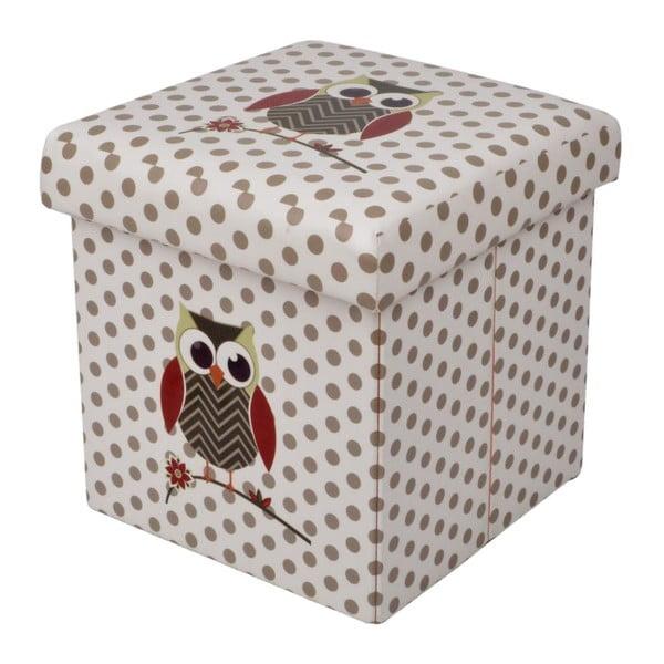 Skladací Puf Owl, 32x32 cm