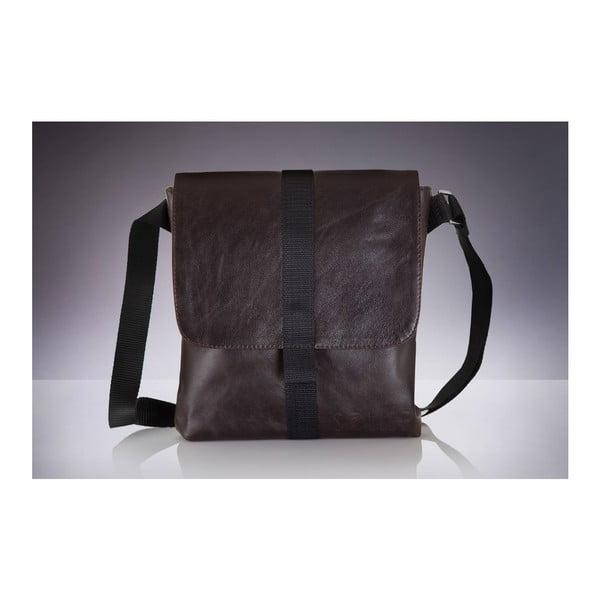 Pánska kožená taška Solier SL31, hnedá